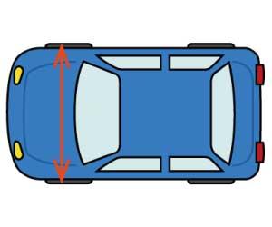 車の屋根の上に荷物を積む-載せる-ルーフキャリア-ルーフボックス-荷物横幅制限-画像